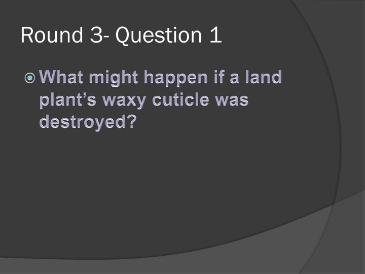 Round 3- Question 1