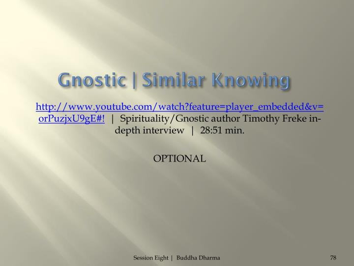 Gnostic | Similar Knowing