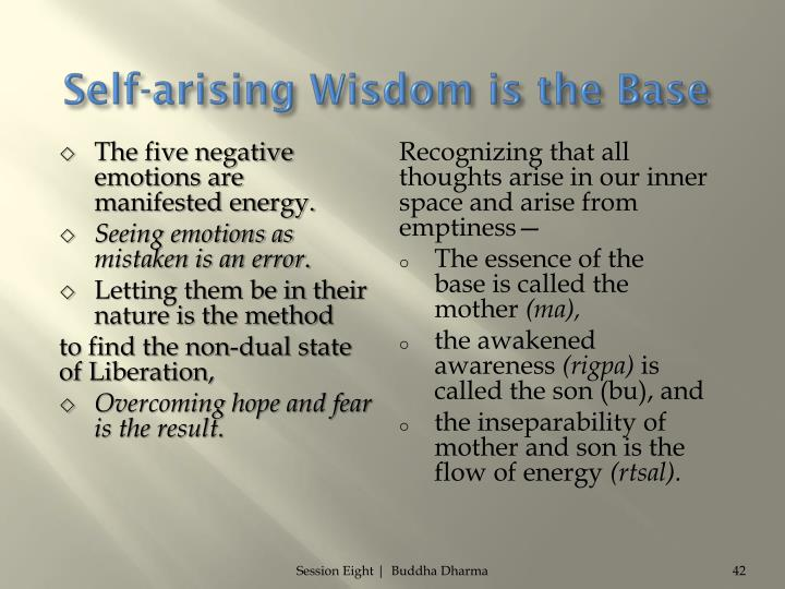 Self-arising Wisdom is the Base