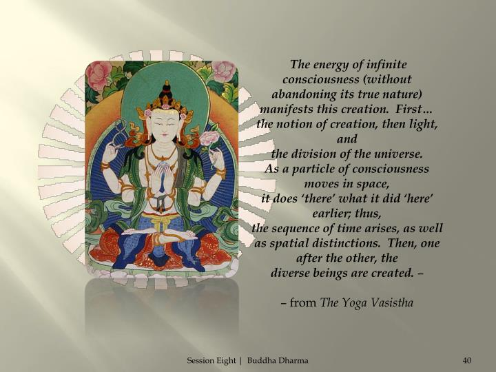 The energy of infinite consciousness (without abandoning its true nature)
