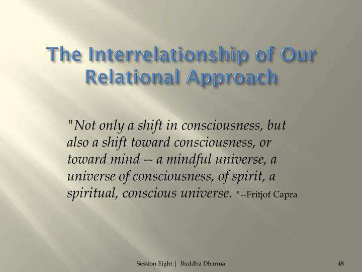The Interrelationship of Our Relational Approach