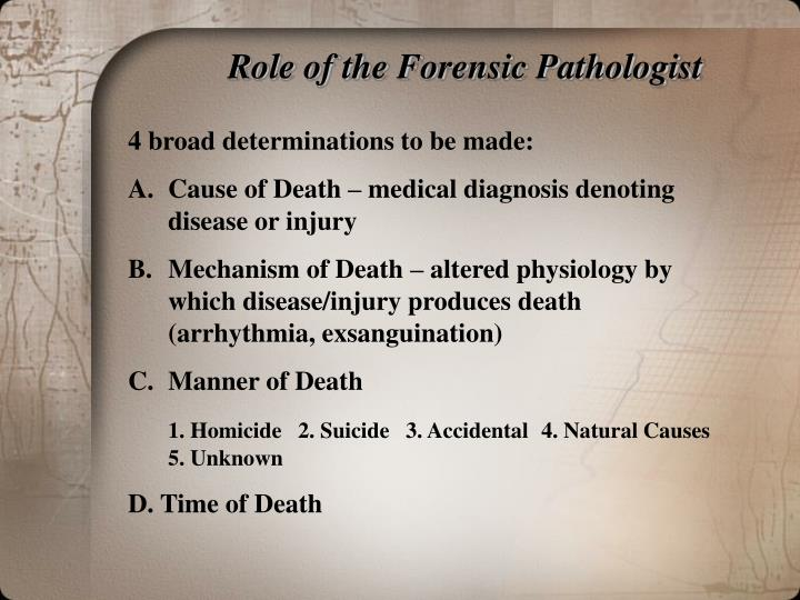 a research paper about forensic pathology I am a student working on a research paper on the career we want to pursue i need an interview source from a person who knows about or is a forensic scientist.