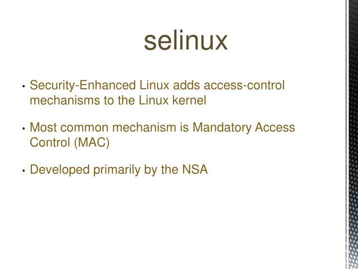 Selinux red hat nsa hookups