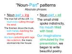 noun part patterns absolute phrases