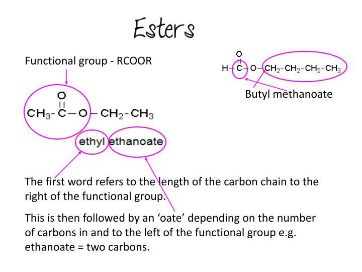 Functional group - RCOOR