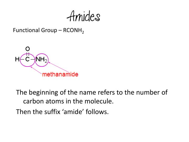 Functional Group – RCONH