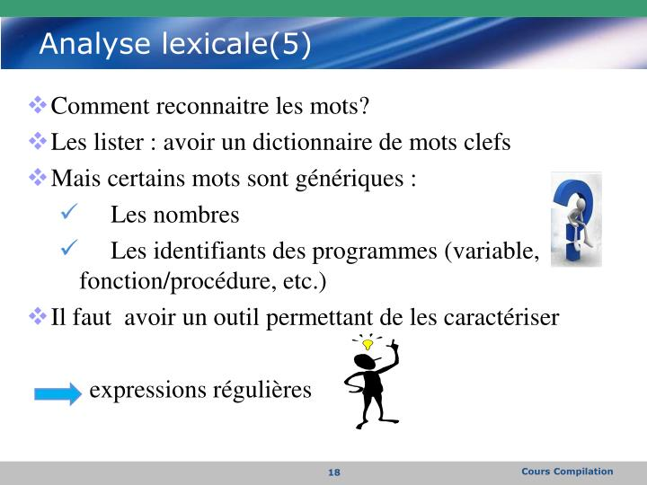Analyse lexicale(5)