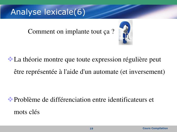 Analyse lexicale(6)