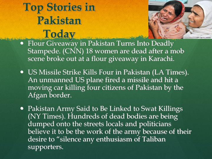 Top Stories in Pakistan Today