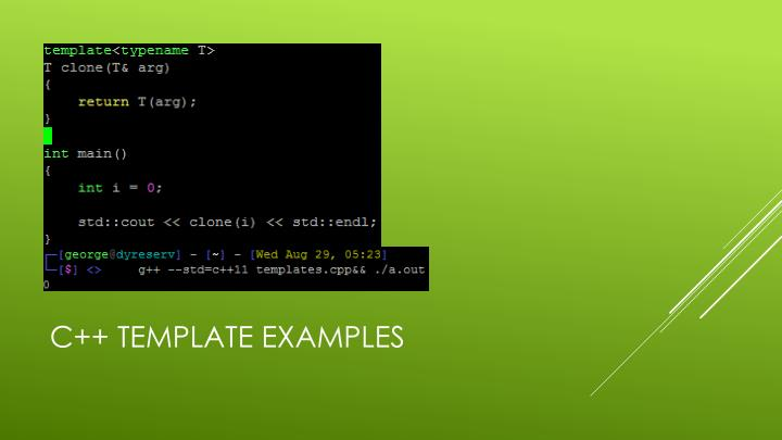 C++ Template Examples