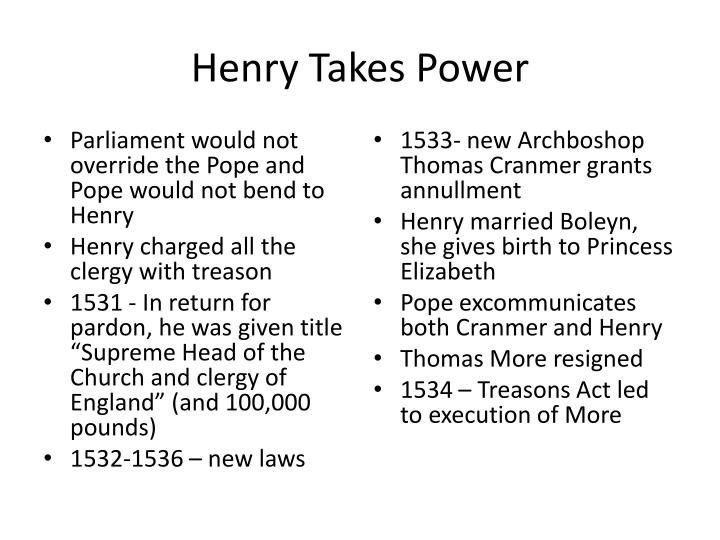 Henry Takes Power