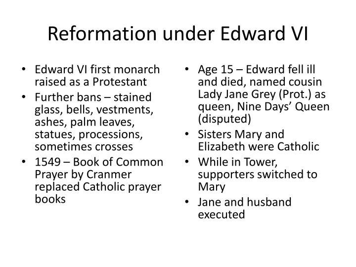 Reformation under Edward VI