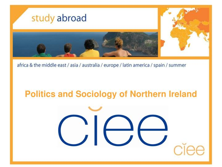 politics and sociology of northern ireland n.