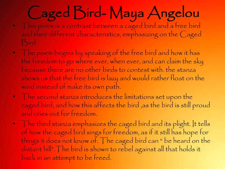 caged bird maya angelou n.