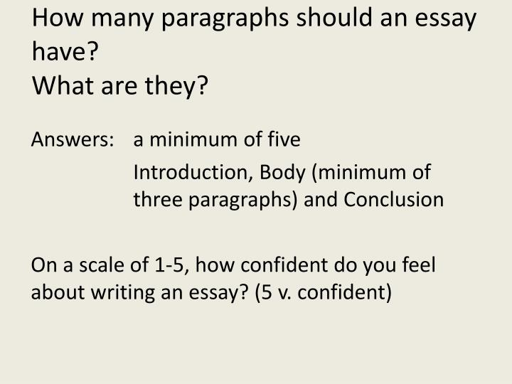 How many paragraphs should an essay have?