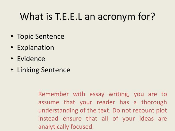 What is T.E.E.L an acronym for?