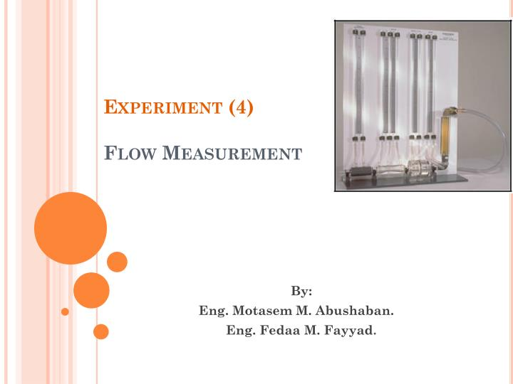 experiment 4 flow measurement n.