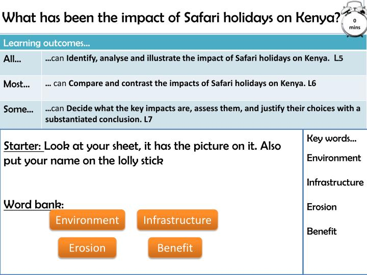 what has been the impact of safari holidays on kenya n.