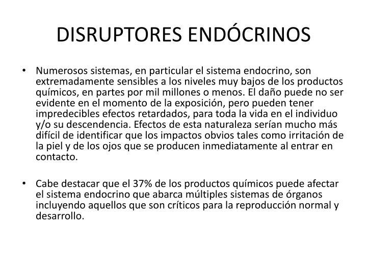 DISRUPTORES ENDÓCRINOS