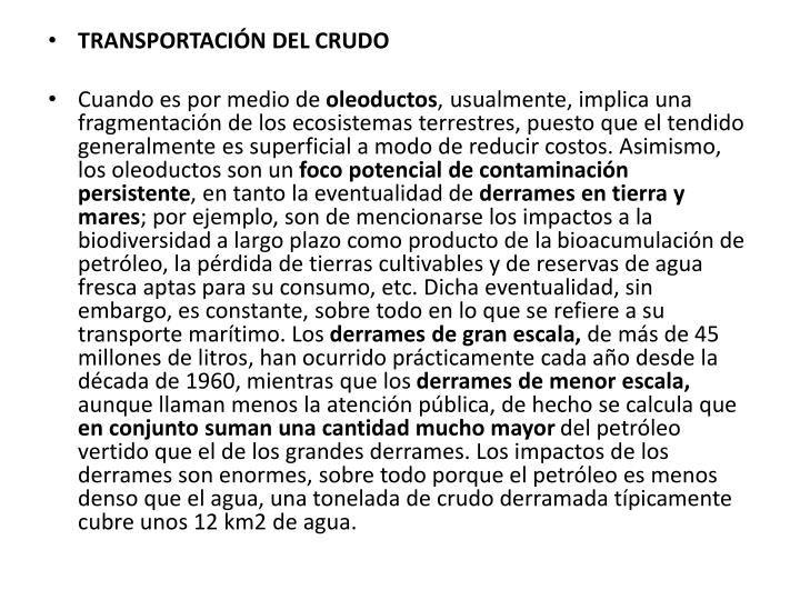 TRANSPORTACIÓN DEL