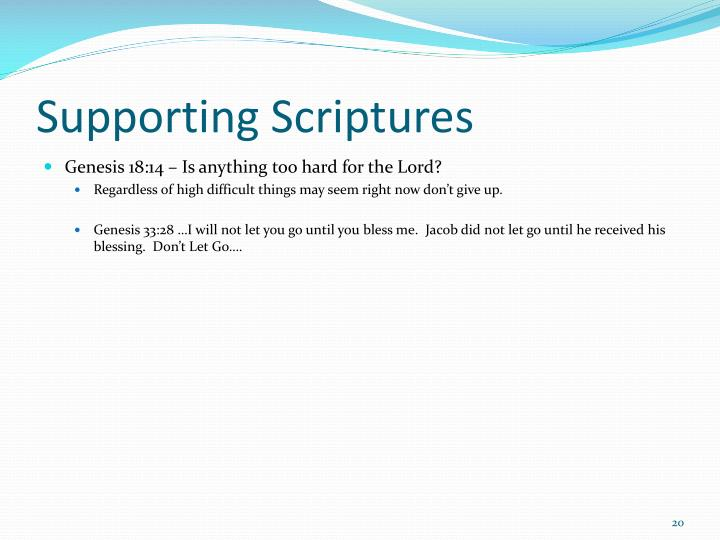 Supporting Scriptures