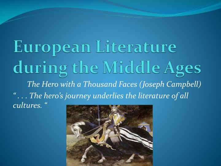 european literature during the middle ages n.