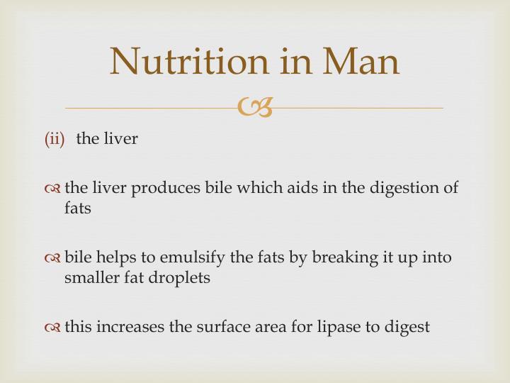 Nutrition in Man