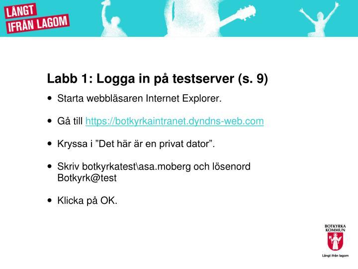 Labb 1: Logga