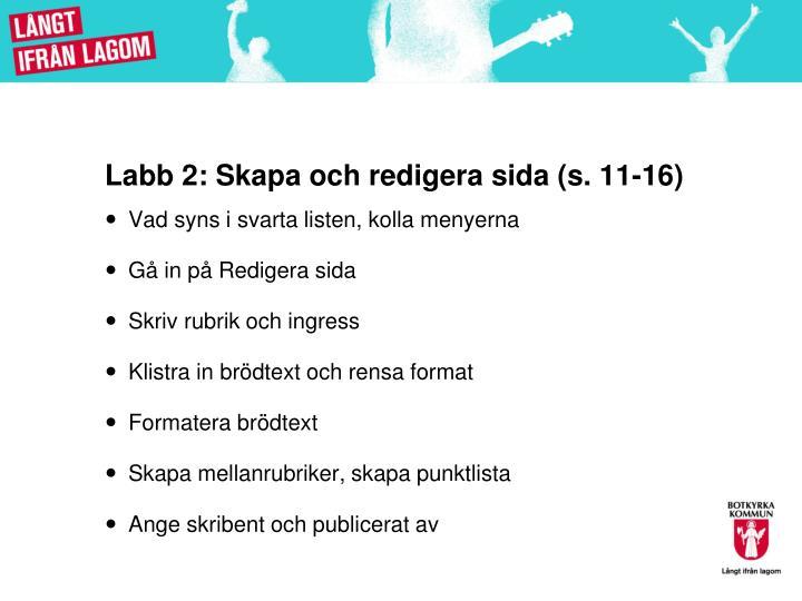 Labb 2:
