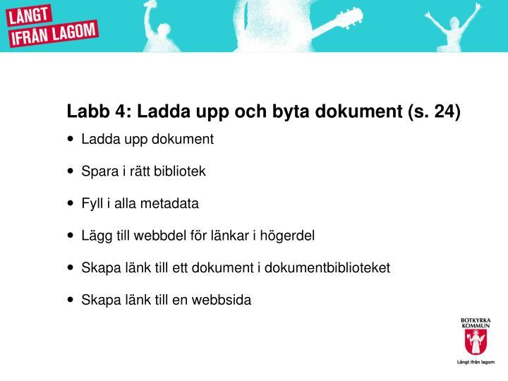 Labb 4: Ladda upp