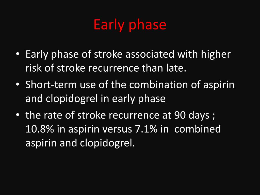 PPT - secondary prevention after a TIA or ischemic stroke