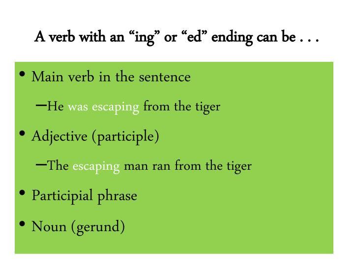 "A verb with an """
