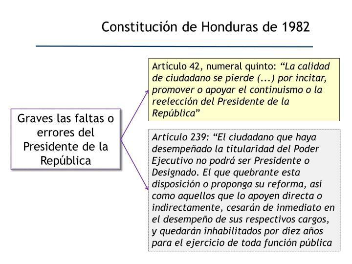 Constitución de Honduras de 1982