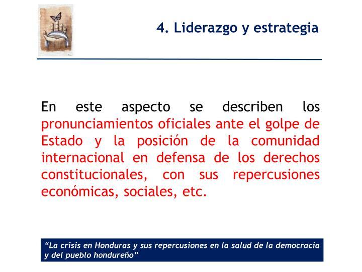 4. Liderazgo
