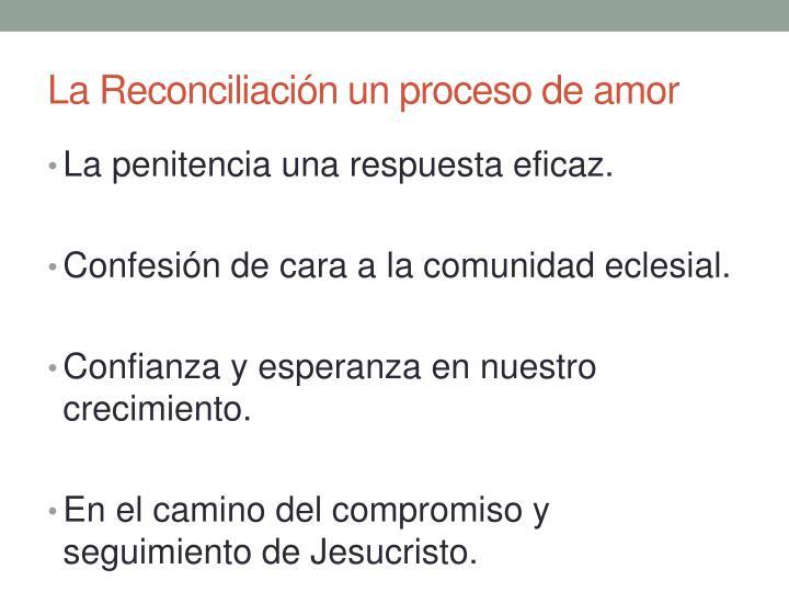 La Reconciliación un proceso de amor