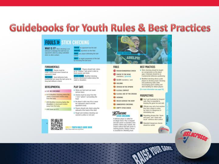 Guidebooks for Youth Rules & Best Practices