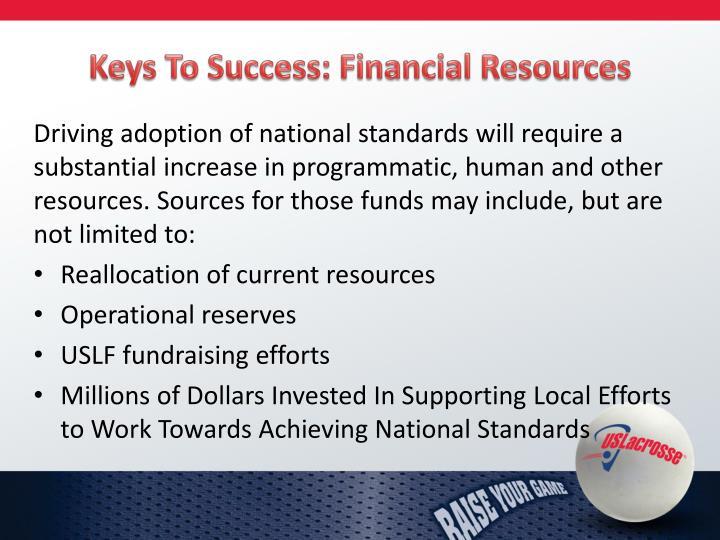 Keys To Success: Financial