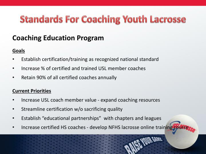 Standards For Coaching
