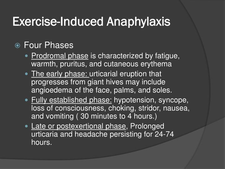 Exercise-Induced Anaphylaxis