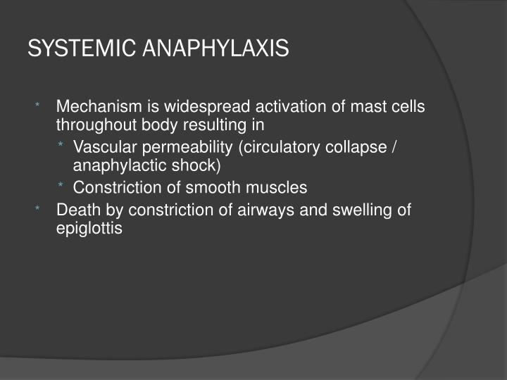 SYSTEMIC ANAPHYLAXIS
