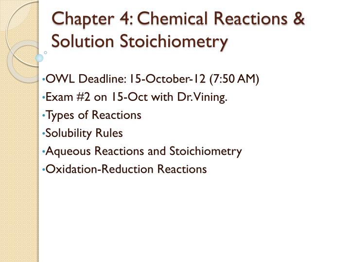 chapter 4 chemical reactions solution stoichiometry n.