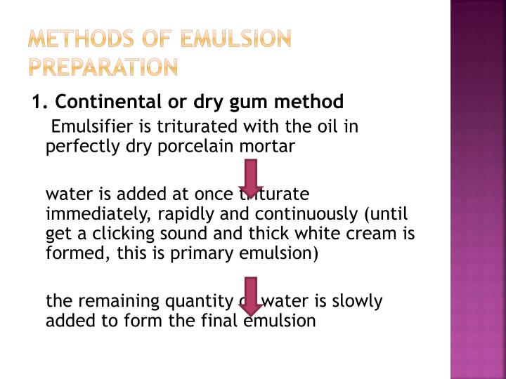 Methods of emulsion preparation