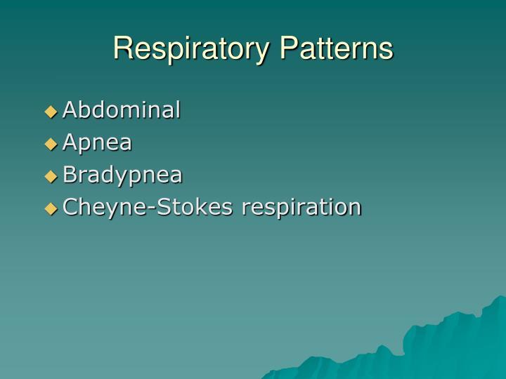 Respiratory Patterns