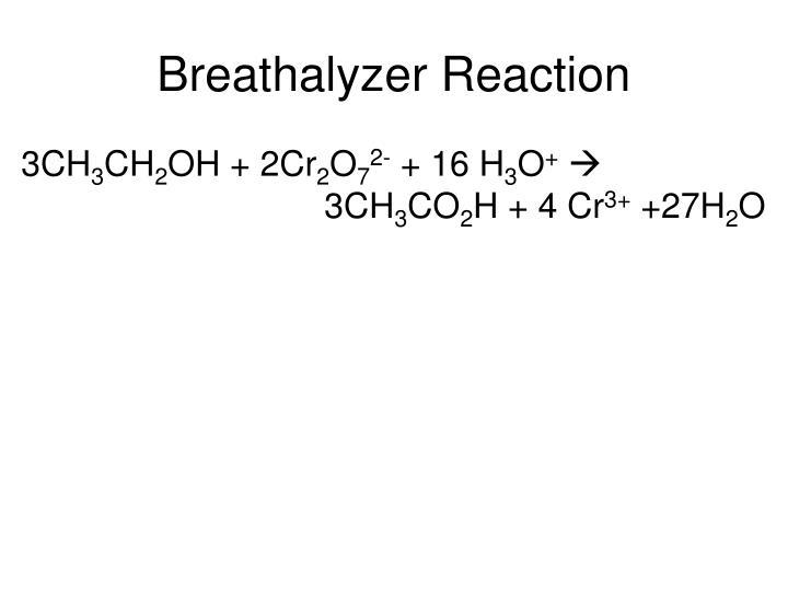 Breathalyzer Reaction