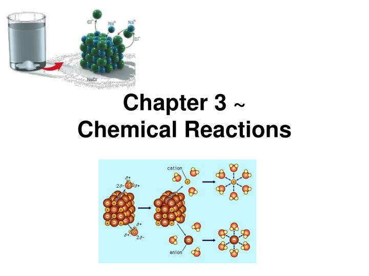 chapter 3 chemical reactions n.