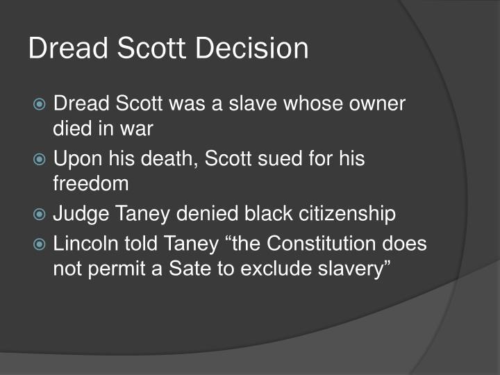Dread scott decision