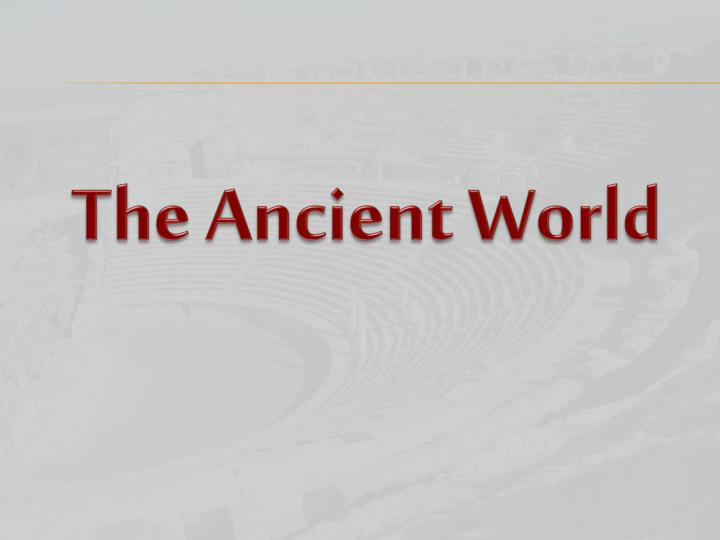 the ancient world n.