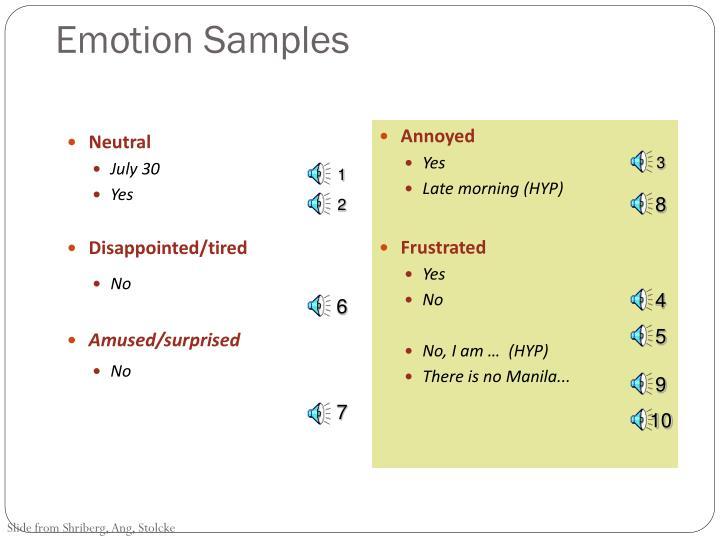 Emotion Samples