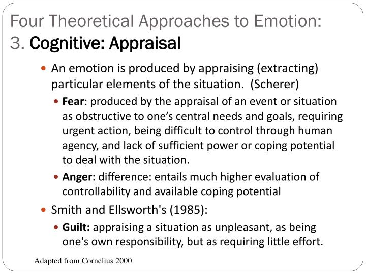 Four Theoretical Approaches to Emotion: