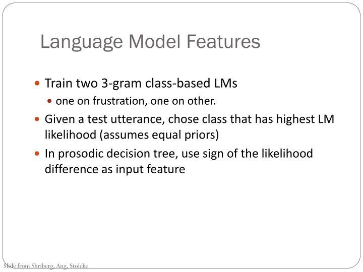 Language Model Features
